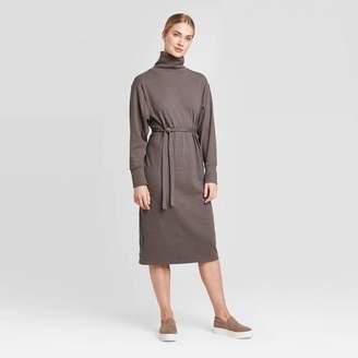 Prologue Women's Long Sleeve Mock Turtleneck T-Shirt Midi Dress - PrologueTM
