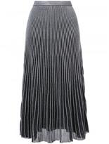 Proenza Schouler pleated metallic skirt