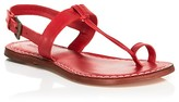 Bernardo Flat T-Strap Sandals - Maverick Toe Ring