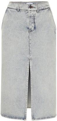 Balenciaga High-rise denim midi skirt