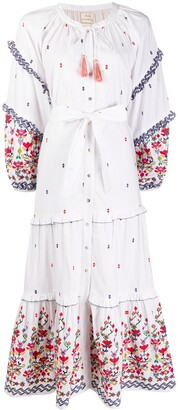 CHUFY Kenko floral embroidered dress