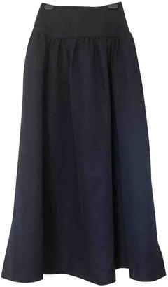 Sonia Rykiel Navy Linen Skirt for Women