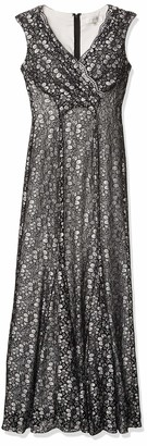 Tahari by Arthur S. Levine Women's Stretch Lace Two Tone Gown