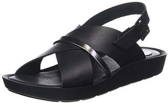 TBS Women's NYMPHEA Open Toe Sandals, Black (Noir + Bronze D34)