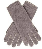 Black Ladies Light Brown Cashmere Gloves