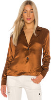 The Range Liquid Satin Blazer Shirt