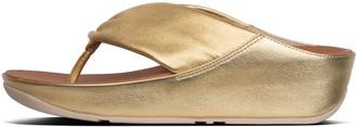 FitFlop Twiss Metallic Leather Toe-Post Sandals