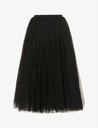 KHAITE Samantha high-waist mesh midi skirt
