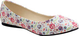 Women's T.U.K. Original Footwear A9038L Ditsy Day of the Dead Flat