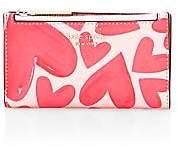 Kate Spade Women's Spencer Ever Fallen Heart-Print Slim Bi-Fold Wallet
