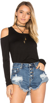 Chaser Long Sleeve Shirttail Cold Shoulder Tee