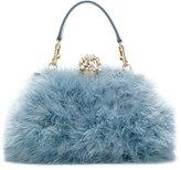 Dolce & Gabbana Vanda clutch - women - Calf Leather/Acrylic/Wool/Turkey Feather - One Size