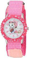 Disney Girl's 'Sheriff Callie' Quartz Stainless Steel and Nylon Watch, Color:Pink (Model: W003084)