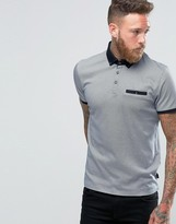 Ted Baker Polo Shirt With Allover Print
