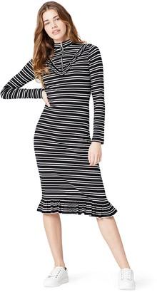 Find. Amazon Brand Women's Striped Frill Dress