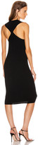 Helmut Lang Twist Tank Dress in Black | FWRD