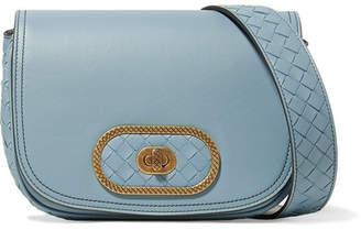 Bottega Veneta Luna Small Intrecciato Leather Shoulder Bag - Light blue