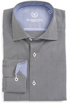 Bugatchi Checked Trim Fit Dress Shirt