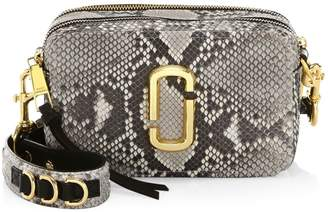 Marc Jacobs The Softshot Snakeskin-Embossed Leather Camera Bag