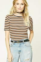 Forever 21 FOREVER 21+ Contemporary Striped Tee