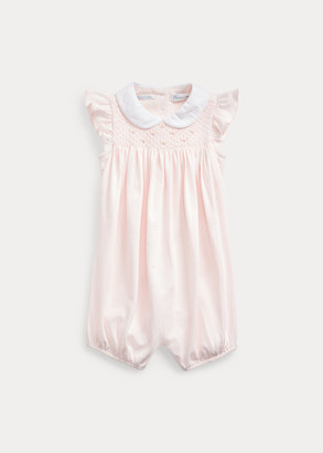 Ralph Lauren Smocked Cotton Shortall