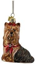 """Kurt Adler 3.5"""" Noble Gems Glass Yorkshire Terrier Ornament"""