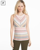 White House Black Market Petite Stripe Sleeveless Sweater