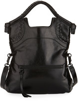 Foley + Corinna Violetta Lady Fold-Over Tote Bag, Black