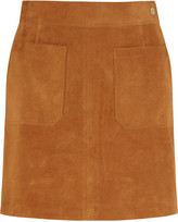 Frame Le High suede mini skirt