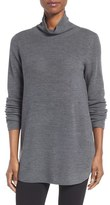 Eileen Fisher Women's Fine Rib Merino Turtleneck Tunic