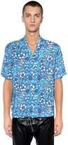 DSQUARED2 Floral Printed Viscose Bowling Shirt