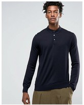 Kiomi Knitted Polo Shirt With Long Sleeves