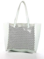 Loeffler Randall Mint Green Leather Perforated Open Tote Bag New $395 90043994