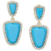 ABS by Allen Schwartz Going Coastal Turquoise & 12K Goldplated Double Drop Earrings