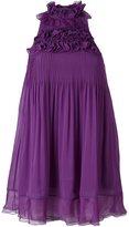 Giamba ruffle front pleated dress - women - Silk/Polyester - 44