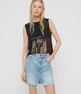 AllSaints Lila Eyelet Denim Skirt
