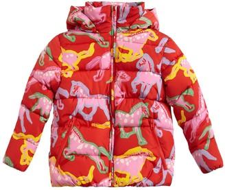 Stella McCartney Kids Horses Print Nylon Puffer Jacket