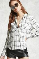 Forever 21 FOREVER 21+ Plaid Button-Up Shirt