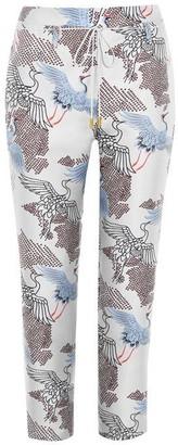 Biba Crane Jacquard Trousers