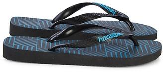 Havaianas Top Graphic Blocks Rubber Platform Flip Flops