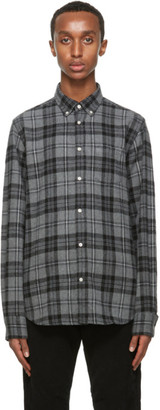 Officine Generale Grey Antime Check Shirt