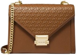 Michael Kors Whitney Large Embossed Leather Shoulder Bag