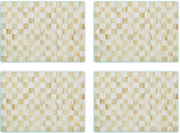 Mackenzie Childs MacKenzie-Childs - Parchment Check Cork Back Placemats - Set of 4