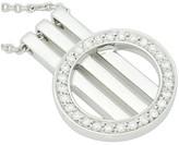 Movado 18K White Gold Diamond Circle of Life On Bars Pendant