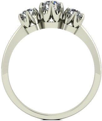 Love Diamond 9ct Gold 50 Point Diamond Trilogy Ring