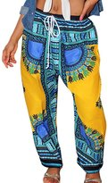 Ninimour Womens Tribal Design Wide Leg Harem Pants S