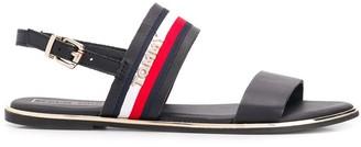 Tommy Hilfiger stripe detail sandals