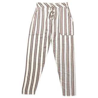 Laurence Dolige Beige Linen Trousers for Women