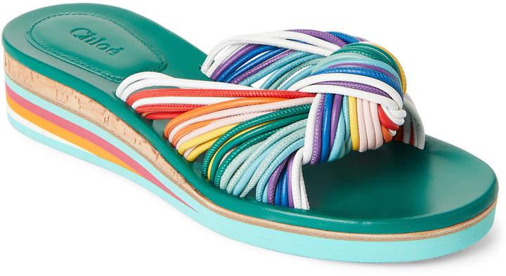 Chloé Jody Multicolor Wedge Sandals