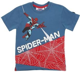 Spiderman Print Cotton Jersey T-Shirt